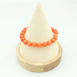 Bracelet en perles d'oeil de chat orange
